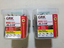 "472 (2 BOXES OF 236) GRK #10 X 3 1/8"" RSS SCREWS ( RUGGED STRUCTUAL SCREWS)"