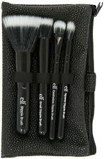 e.l.f.  5 Piece Stipple Brush Set w Brush Holder Cosmetic Bag New in Box