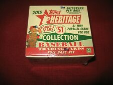 2015 TOPPS BASEBALL HERITAGE SEALED UNOPENED BOX CARDS ONE AUTOGRAPH AUTO