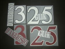 KIT NOME+NUMERO UFFICIALE TORINO FC HOME/AWAY/3RD 2012-2013 OFFICIAL NAMESETS