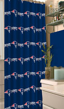 "NFL New England Patriots Fabric Shower Curtain 72"" Football Fan Bath Decor Gift"