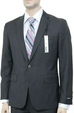 Bar III Slim Fit Solid Brown Two Button 100% Wool Blazer Sportcoat 40L