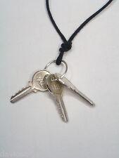 Ciondolo con 3 CHIAVI YALE in ARGENTO 925 - pendente con girocollo -