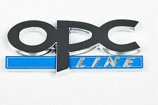 OPC LINE BADGE LOGO DECAL DOOR BOOT SELF ADHESIVE BLUE SILVER VW VAUXHALL OPC1