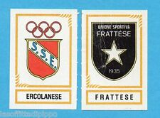 PANINI CALCIATORI 1982/83 -Figurina n.594- ERCOLANESE+FRATTESE - SCUDETTO -Rec