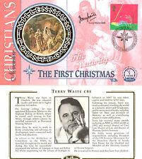 2 NOVEMBER 1999 CHRISTMAS BENHAM FDC SIGNED BY LEBANESE HOSTAGE TERRY WAITE