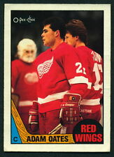 1987 88 OPC O PEE CHEE 123 ADAM OATES NM RC RED WINGS HOCKEY ROOKIE CARD