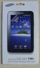 Genuine Original Samsung Galaxy Tab Clear Screen Protector Twin Pack  - NEW