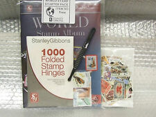 STANLEY GIBBONS -  WORLD STAMP ALBUM STARTER PACK - IDEAL BIRTHDAY  PRESENT