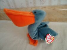 "TY Beanie Babies ""SCOOP"" Soft Plush Pelican. PE Pellets. 1996. 6"" Sitting. NEW"