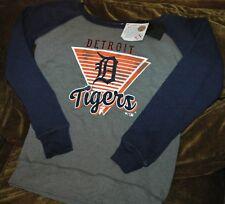 Detroit Tigers sweatshirt women's medium NEW with tags FLEECE MLB throwback