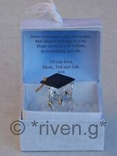 Owl@premium laurea regalo scheda box@glass @personalised verse@degree RICORDO