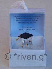 OWL@PREMIUM Verse@DEGREE Box@Glass @PERSONALISED tarjeta de regalo de graduación Recuerdo