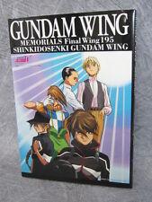 GUNDAM WING Memorials Final Wing 195 TV Anime Art Book Japan Japanese FREESHIP