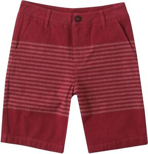 """O'Neill Boys Sailor Johnny Red 18"""" Regular Fit Casual Chino Shorts Sz 26"""