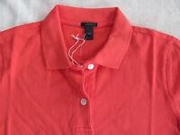 J.Crew Garment Dyed Pique Polo Shirt-Vibrant Red/Orange-Cotton-Size XXS-NWT $39