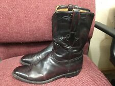 LUCCHESE Black Cherry All Leather Western Boots Men's Size 12 D