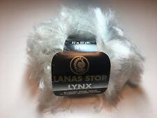 10 Stü Lanas Stop LYNX Farbe: 701 Luxuswolle 10*50 Gra. Garn Wolle Luchs Fell´