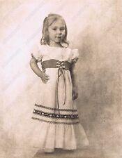 "Hendrickson Original Photo SEPIA TODDLER IN NICE CUTE DRESS 11x14"""