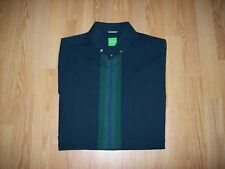 MENS GREEN HUGO BOSS SHORT SLEEVED SHIRT - MEDIUM / 40""