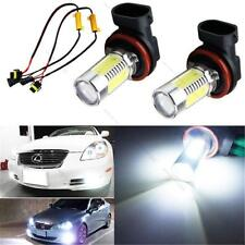 2pcs HID White H11 CREE COB LED Bulbs Fog Lights + Canbus #L Decoders Error Free