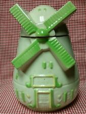 Vintage FAP CO Dutch Windmill Cookie Jar Fredricksburg Art Pottery Ohio USA