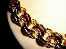 Vtg Guy Laroche HEAVY Couture Gold Plated Runway Double Curb Link Chain Necklace