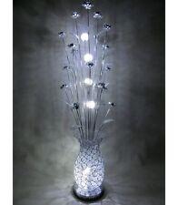 Carmen Silver Metal LED Floor Standing Standard Lamp Flowers Floral Wire Modern