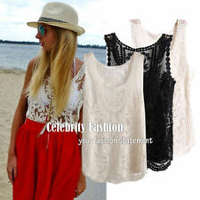 Regular Size Lace Floral Tank, Cami Tops and Blouses for Women