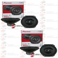 "4 x PIONEER TS-A6880F 6 x 8"" 4-WAY CAR AUDIO COAXIAL SPEAKERS 350W MAX"