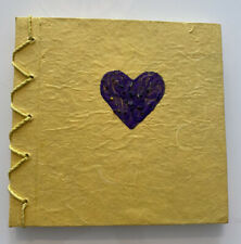 Yellow Notebook with Purple Heart