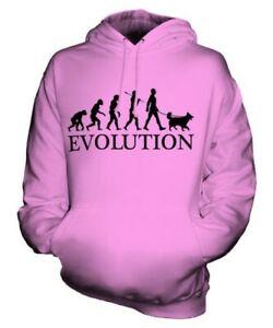 BORDER COLLIE EVOLUTION OF MAN UNISEX HOODIE MENS WOMENS LADIES DOG LOVER GIFT