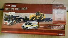 Corgi  CC13427 MAN TGA + Nooteboom Low Loader + JCB + Vivaro Van Factory Sample