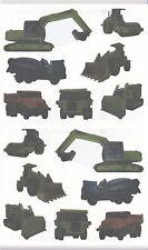 Mrs. Grossman's Giant Stickers - Tractor & Trucks - Dump Cement Truck - 2 Strips