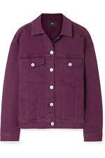 NWT 3X1 Classic Burgundy Wine Purple Oversized Button Down Denim Jacket XS $365