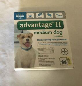 Advantage ll medium dog 11- 20 lbs 4 pack EPA approvedproduct