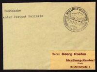 █ Postsache Absender Postamt MALLNITZ du 25/02/43 █