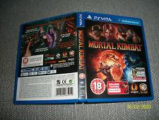 Sony Playstation Vita PSV Mortal Kombat Fighting Video Game Combat MK Kratos