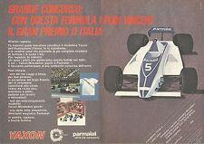 X0573 YAXON Formula 1 - Parmalat - Pubblicità del 1980 - Vintage advertising