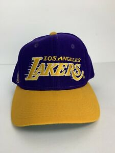 Vintage Los Angeles Lakers Fitted Sports Specialties Motion Script Youth Size