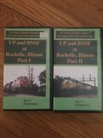 UP & BNSF At Rochelle Illinois Big E Productions VHS 1997 2 Tape Set