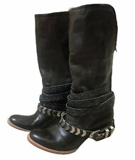 Freebird By Steven Dante Harness Moto Boot Size 8 NEW Patina Brown