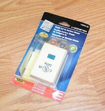 Genuine Monster (140543-00) Single Cat 5e White Surface Mount Only **NEW-READ**