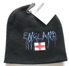 England wool Beanie in Black Navy with embroidery and england flag Saint George