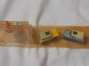 3 GALOOB MICRO MACHINES # 12 PRIVATE EYES PORTA PET, EDSEL, BLUE VAN 1989 NEW