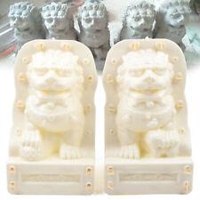Lions Cement Gypsum Concrete Casting Molds Balustrades ABS Plastic set 2 pcs