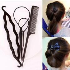 Accessories Women  Braid Clip Bun Maker Donut Stick  Hair Twist Styling Tools