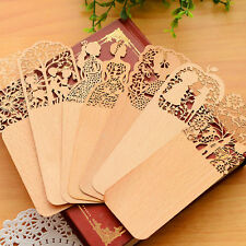 Vintage Wooden Hollow Bookmark Office School Students Supplies Gift Random ##