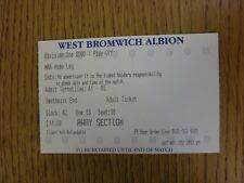 13/05/2001 BIGLIETTO: play-off semi-finale Division 1-West Bromwich Albion V Bolto