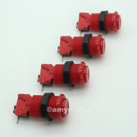 NEW 4 x RED HAPP STANDARD CONCAVE ARCADE PUSH BUTTON WITH MICROSWITCH FOR MAME